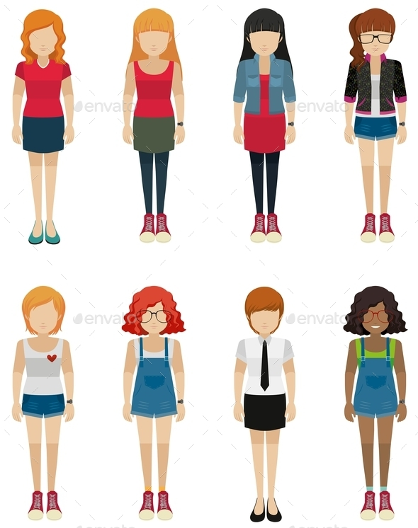 GraphicRiver Faceless Teenagers 10670185