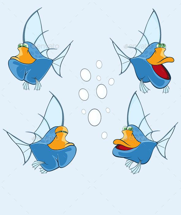 GraphicRiver Cartoon Fishes Set 10670202