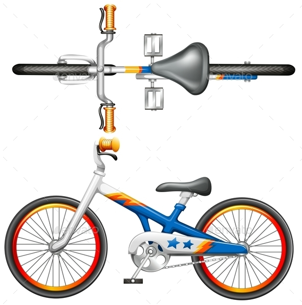 GraphicRiver Top and Side View of a Bicycle 10670276