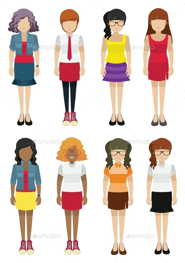 GraphicRiver Faceless Women Template 10670281