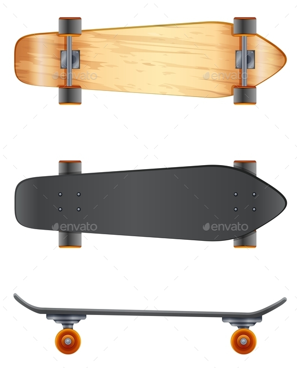 GraphicRiver Wooden Skateboards 10670282