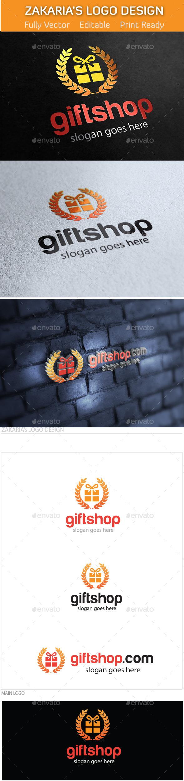 GraphicRiver Gift Shop Online Market Logo 10670299