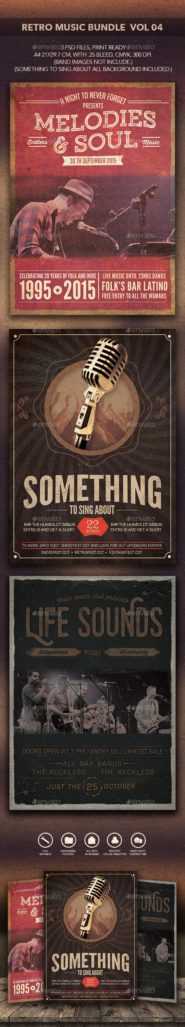 GraphicRiver Retro Music Bundle 04 10670315