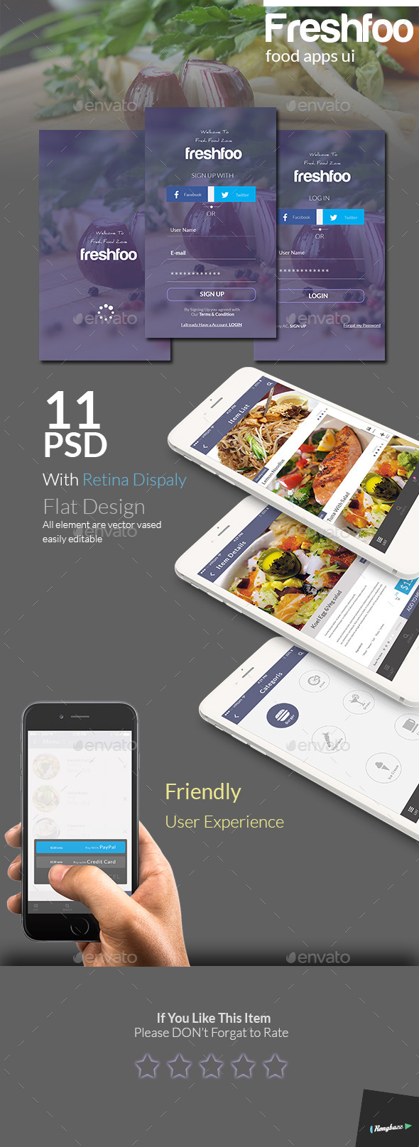 GraphicRiver Food Apps UI 10670401