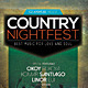 Country Music Flyer / Poster Vol.2 - GraphicRiver Item for Sale