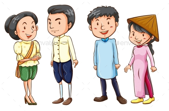 GraphicRiver Asian People 10670437