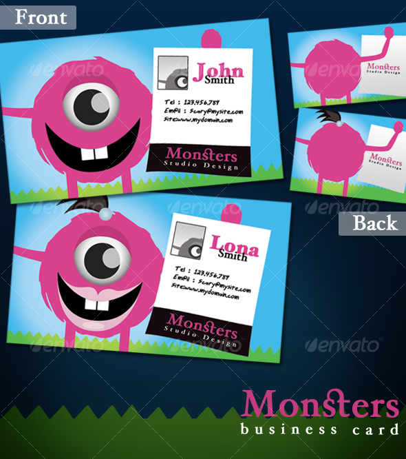 Monsters Business card - Creative Business Cards