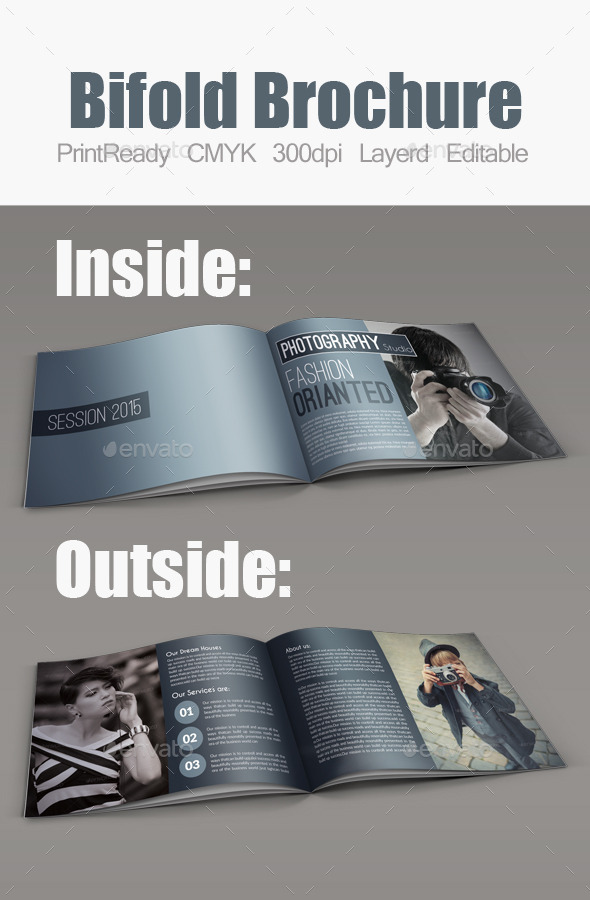 GraphicRiver Photography Bifold Square Brochure Template 10670558