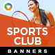 Sports Club Banners - GraphicRiver Item for Sale
