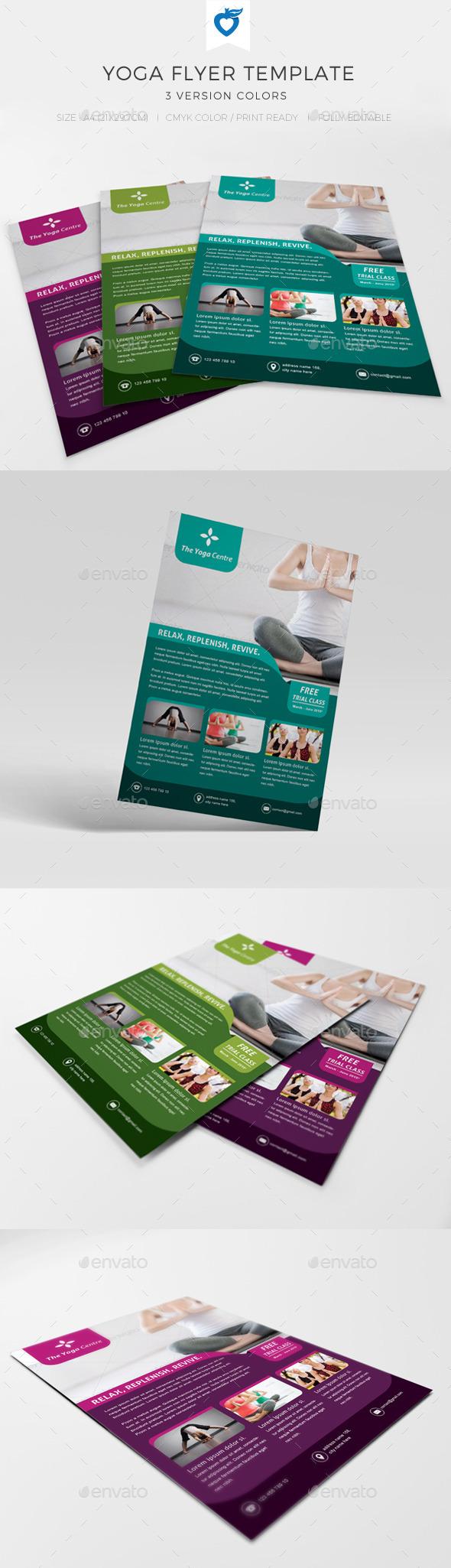 GraphicRiver Yoga Flyer 10671193