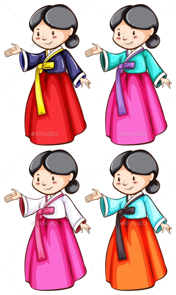 GraphicRiver Females Wearing Asian Clothing 10671306