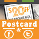 Coupon Postcard, Facebook & Twitter - GraphicRiver Item for Sale