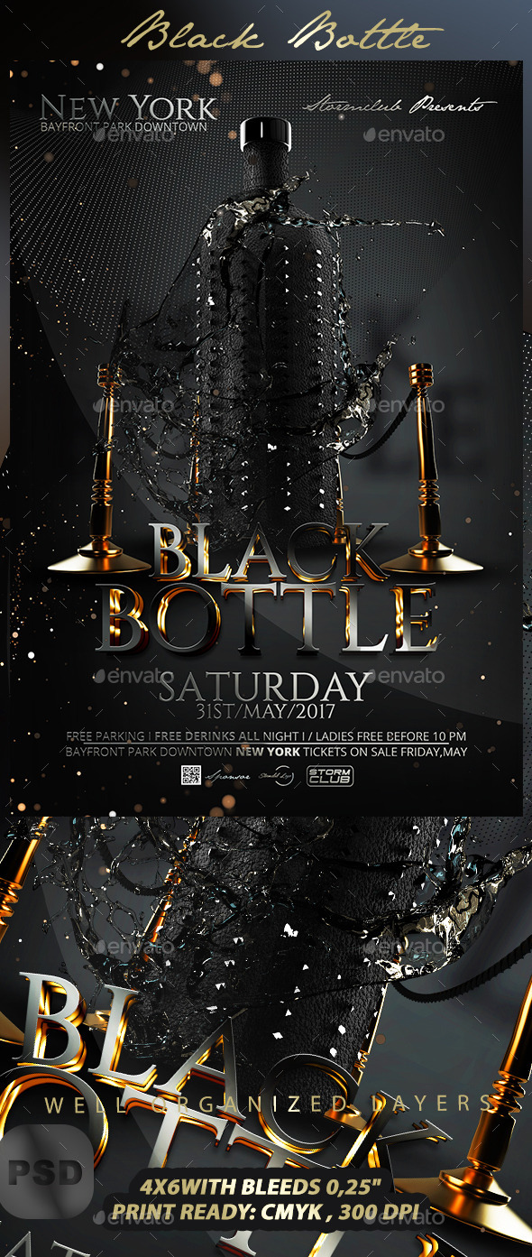 GraphicRiver Black Bottle 10671473