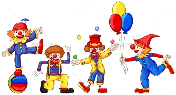 GraphicRiver Colourful Clowns 10671496