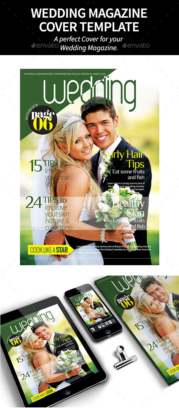 GraphicRiver Wedding Magazine Cover 10671554