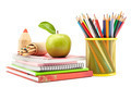 School and office supplies on white background, back to school - PhotoDune Item for Sale