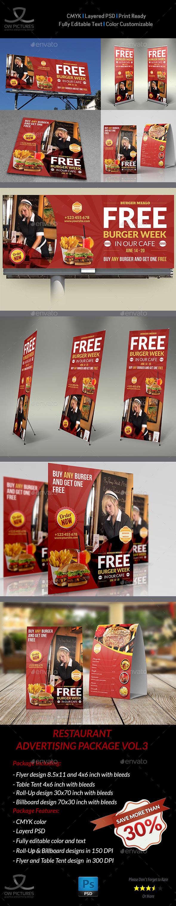 GraphicRiver Restaurant Advertising Bundle Vol.3 10671584