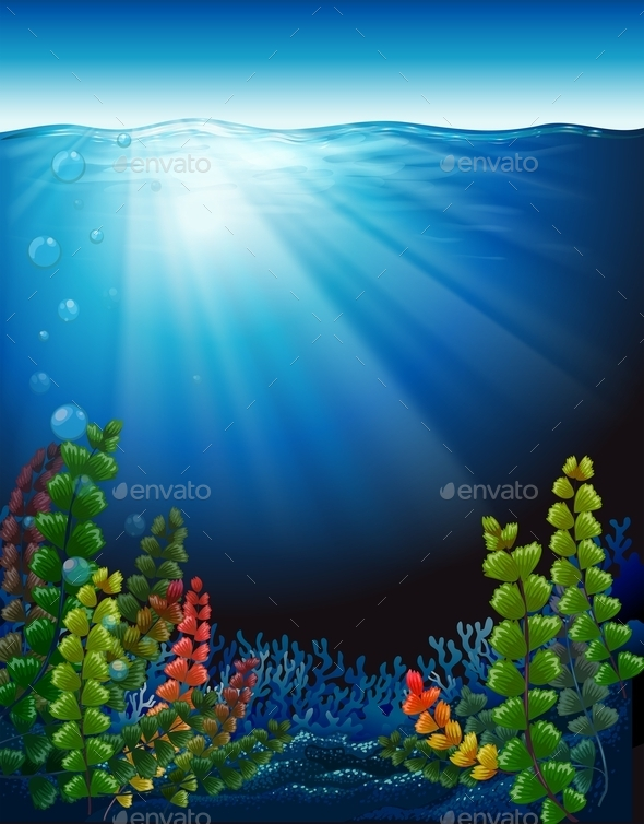 GraphicRiver Plants Under the Sea 10671704