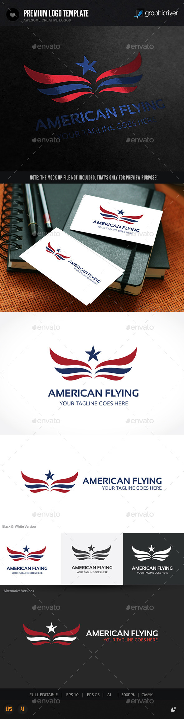 GraphicRiver American Flying 10671864
