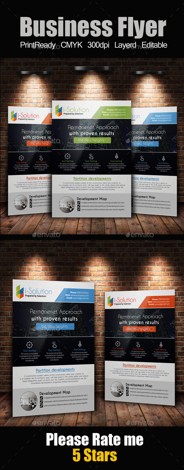 GraphicRiver A4 Business Flyer Template 10671939