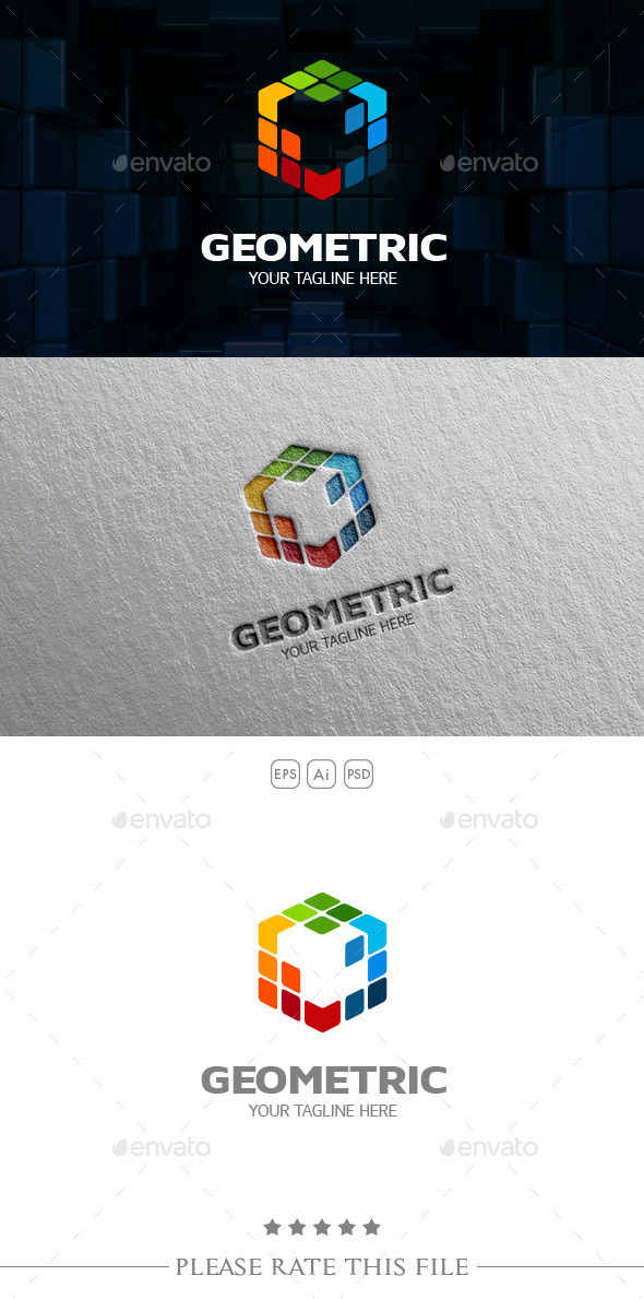 GraphicRiver Colored Cube Logo 10672022