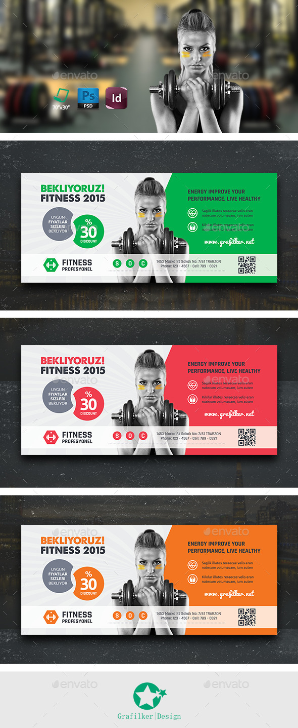 GraphicRiver Fitness Billboard Templates 10672026