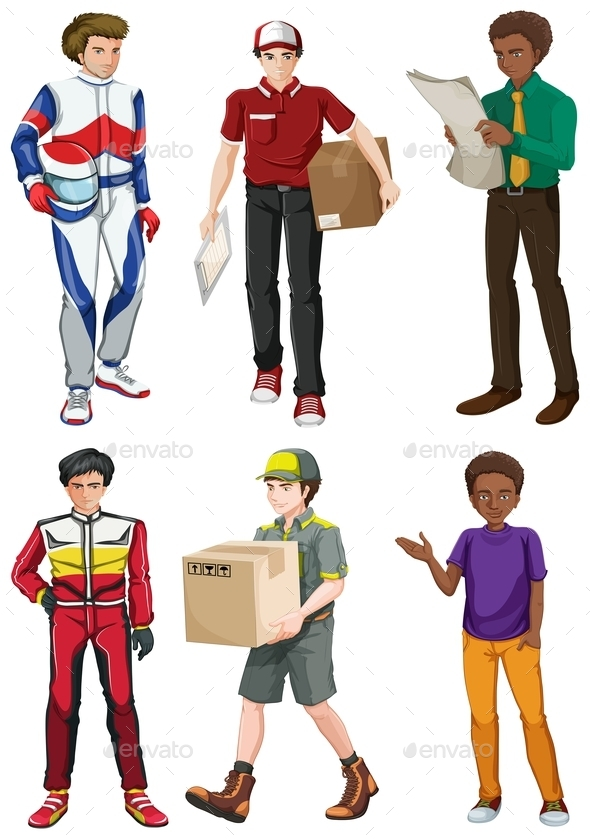 GraphicRiver Men Engaging in Different Activities 10672056