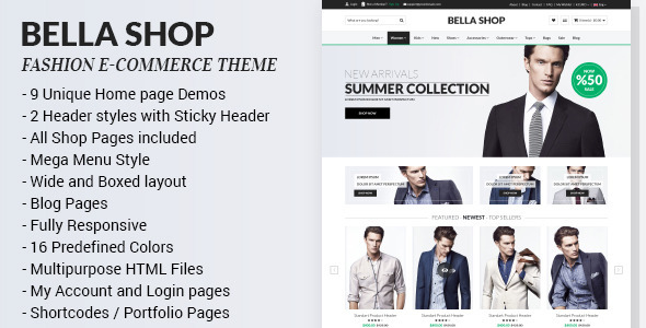 Bella - Multipurpose eCommerce HTML Template