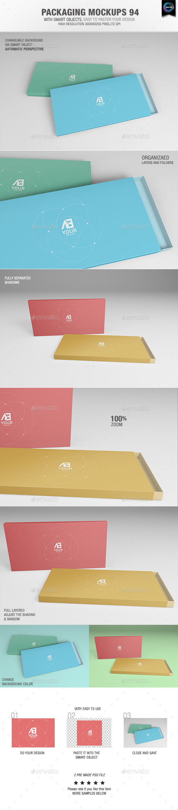 GraphicRiver Packaging Mock-ups 100 10672117