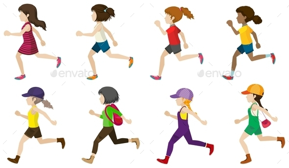 GraphicRiver Faceless Kids Jogging 10672122