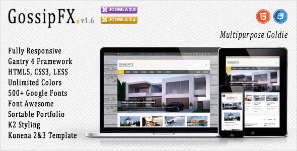 GossipFX - Multipurpose Joomla Template - Joomla CMS Themes