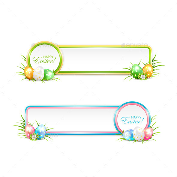 GraphicRiver Easter Banners with Eggs 10672144