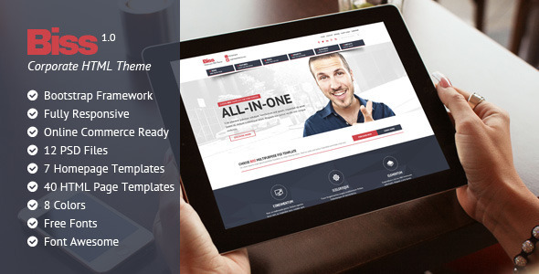 ThemeForest Biss Corporate HTML Themplate 10628236