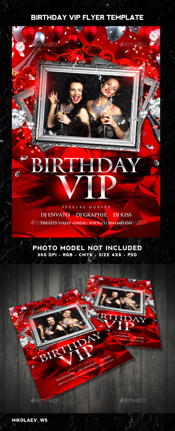 GraphicRiver Birthday VIP Flyer 10672490