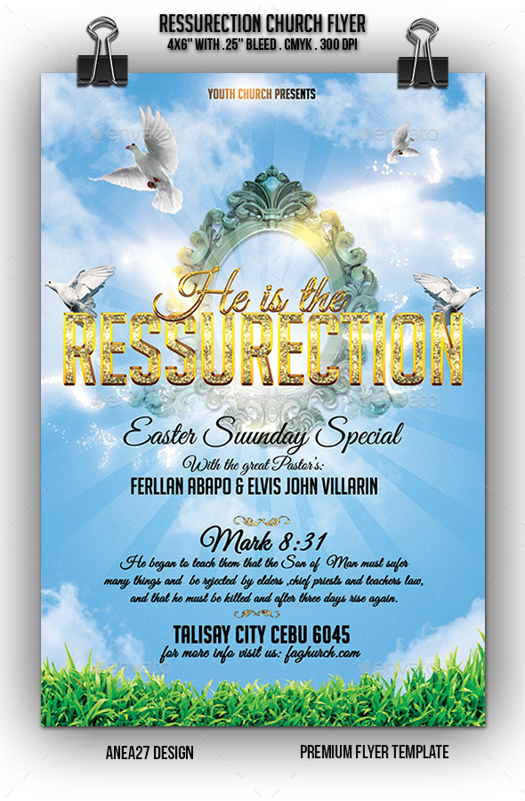 GraphicRiver Church Ressurection Flyer 10672573