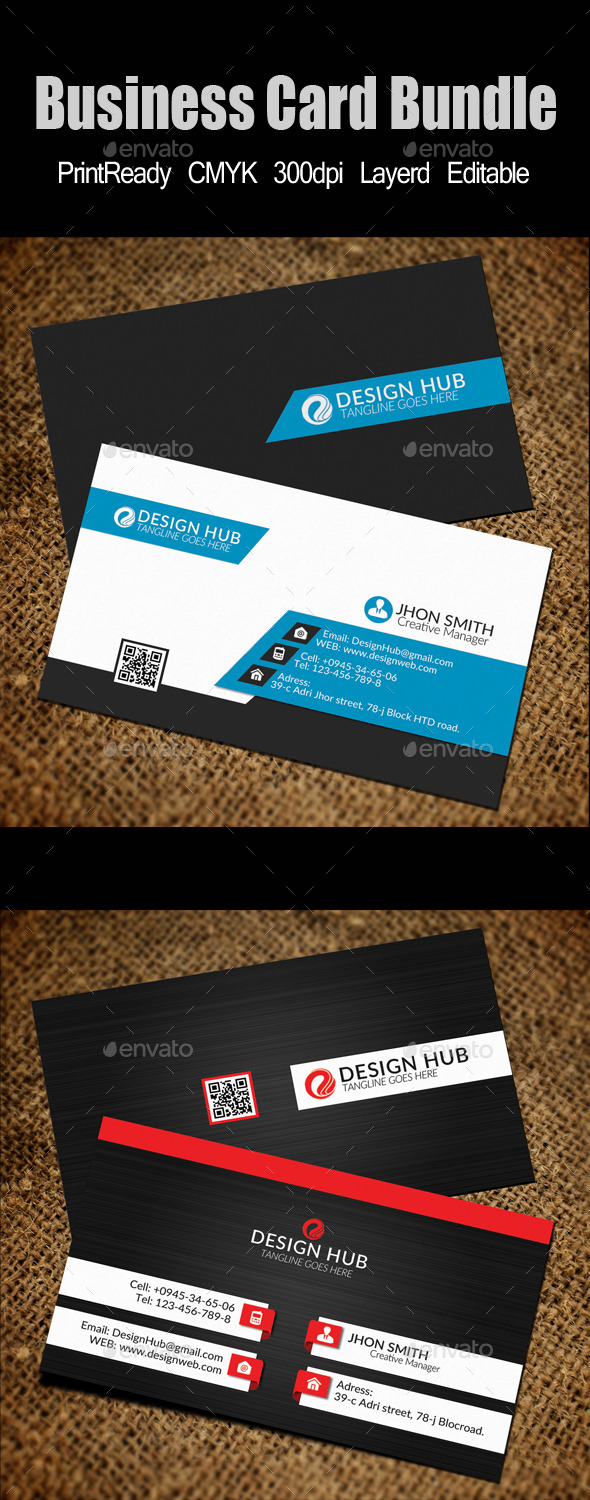GraphicRiver Business Card Bundle Template 10672754