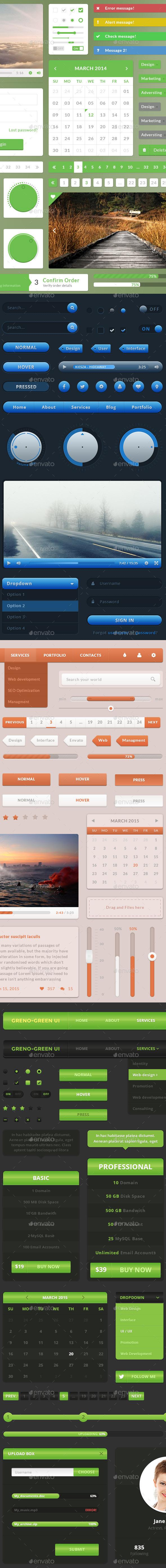 GraphicRiver UI Web Elements Pack 2 10672788