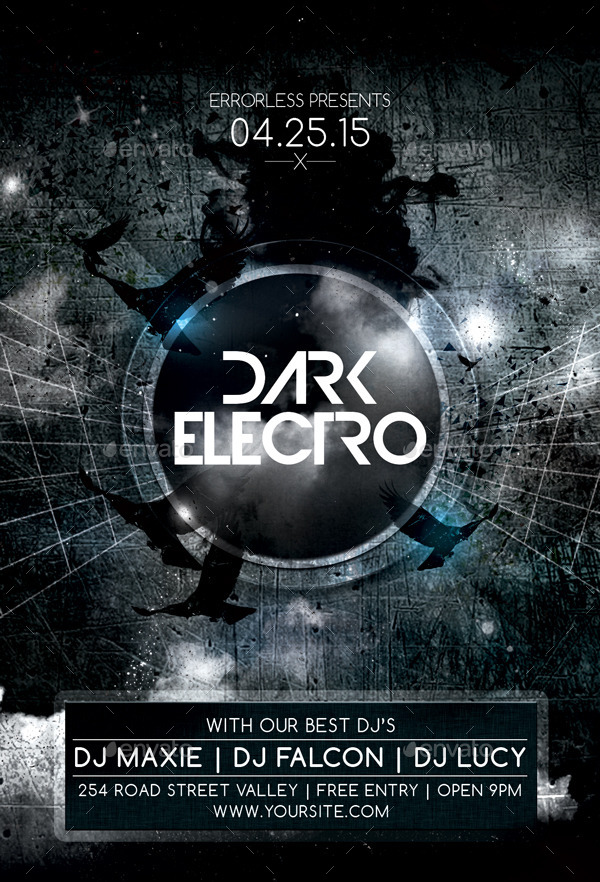Dark Electro Flyer by Errorless – Electro Flyer