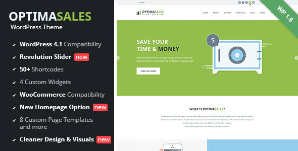OptimaSales - Responsive WordPress Theme - Technology WordPress