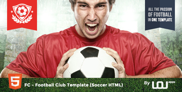 ThemeForest FC Football Club Template Soccer HTML 10638733