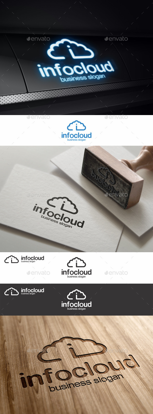 GraphicRiver Info Cloud Logo Template 10673572