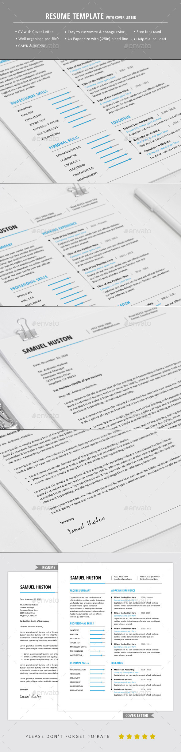 GraphicRiver Professional Resume Template 10602658