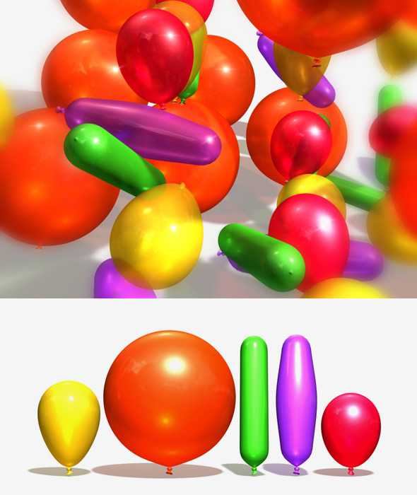 3DOcean Balloons Party Pack 10673628