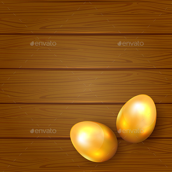 GraphicRiver Two Golden Easter Eggs 10673718