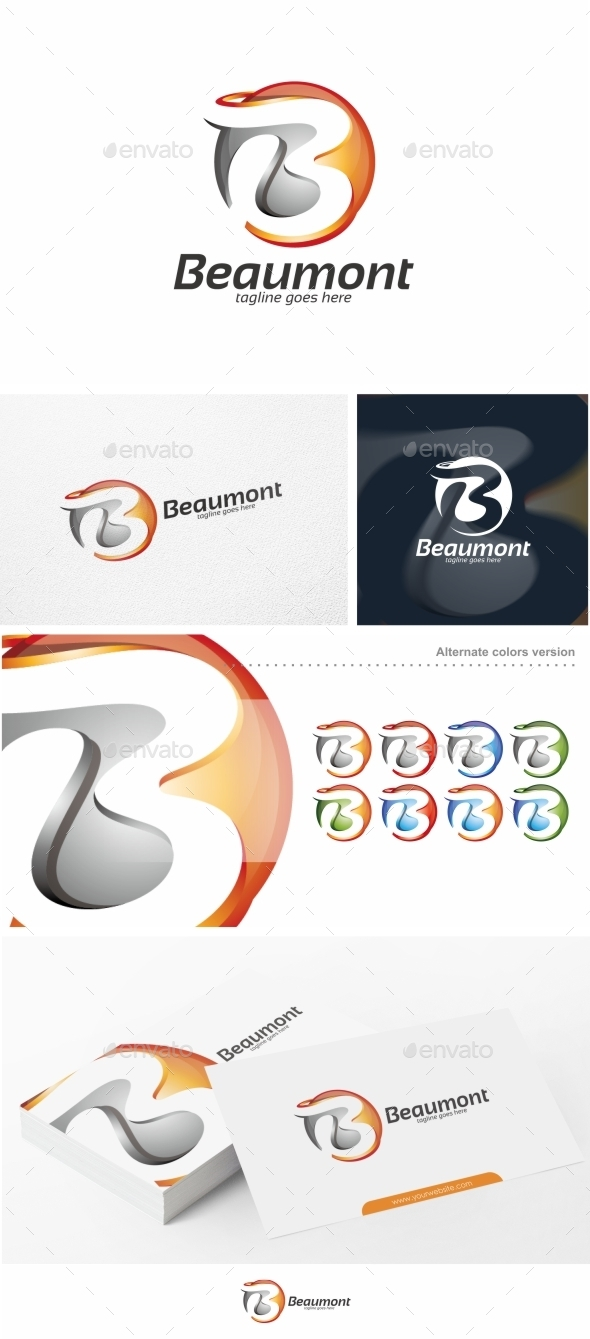 GraphicRiver Beaumont Abstract Letter B Logo Template 10673840