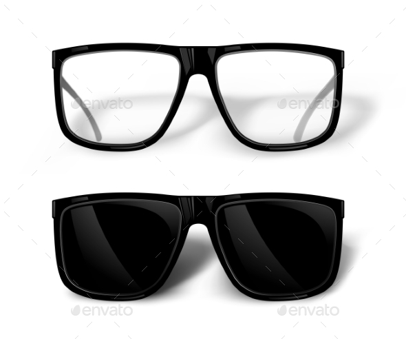 GraphicRiver Black Glasses 10673878