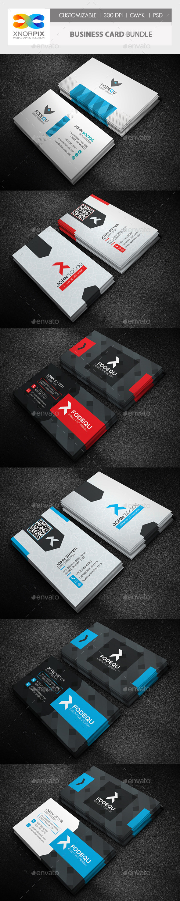 GraphicRiver Business Card Bundle 3 in 1-Vol 48 10674203