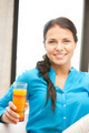 beautiful woman with glass of juice - PhotoDune Item for Sale