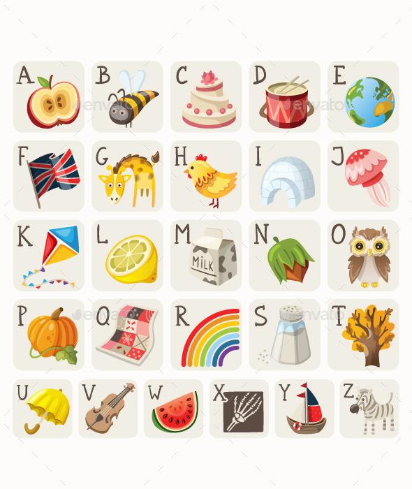 GraphicRiver Alphabet for Children 10675374