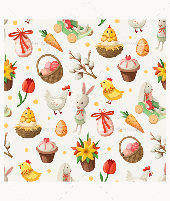 GraphicRiver Easter Elements and Characters 10675399